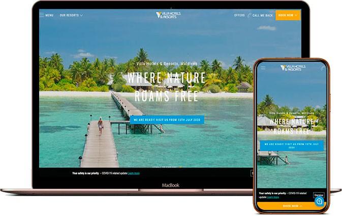 Сайт Сеть отелей Villahotels